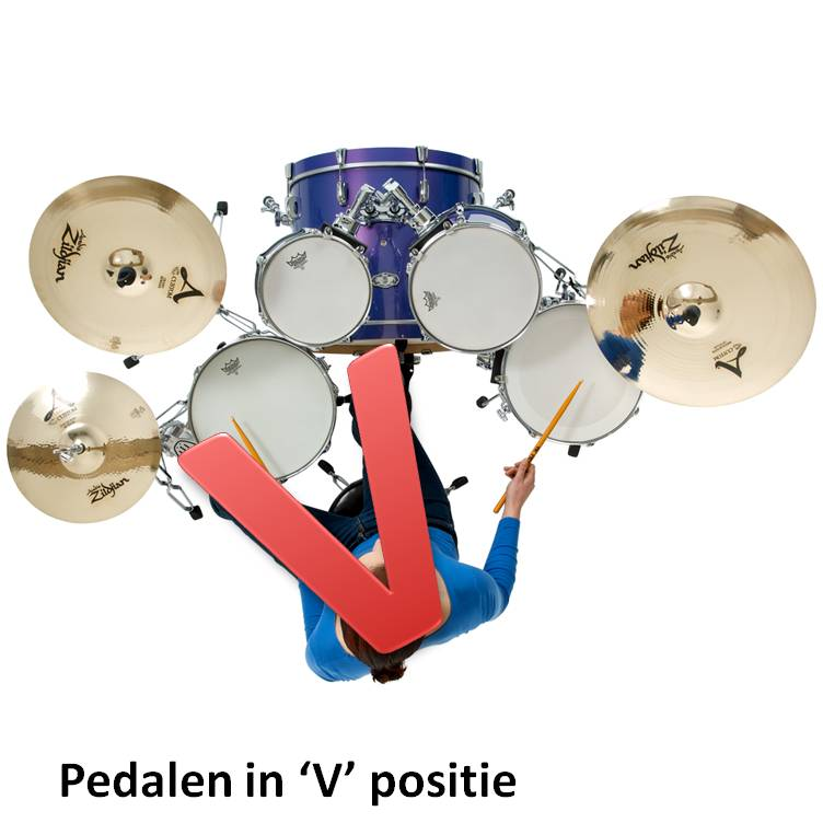 "Pedalen in ""V""-positie"