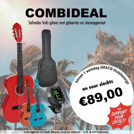 Kleurrijke Combideal Salvador Kids gitaar