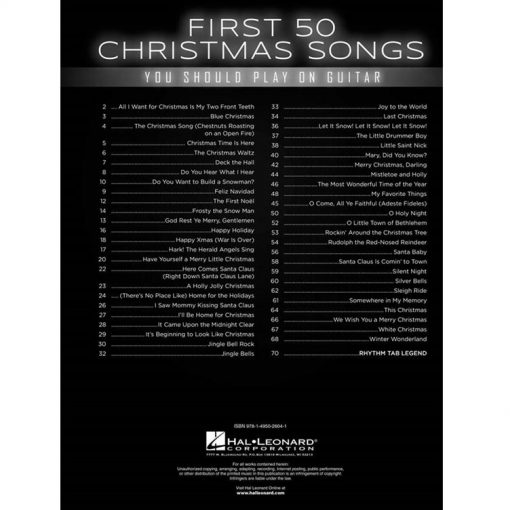 First-50-Christmas-Carols-Gitaar