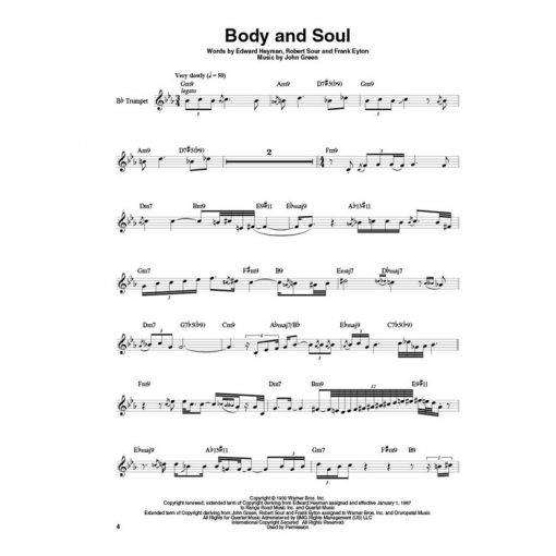 Trumpet Play Along Jazz Ballads